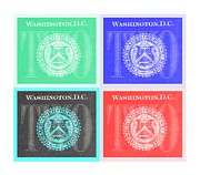 Washington D.c. Digital Art Acrylic Prints - QUAD TWOs in NEGATIVE COLORS Acrylic Print by Rob Hans