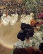 Audience Paintings - Quadrille at the Bal Tabarin by Abel-Truchet