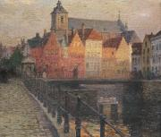 Canals Painting Prints - Quai de la Paille Print by Paul Albert Steck