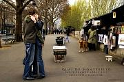 Paris Digital Art Framed Prints - Quai de Montelbello Framed Print by Obi Martinez