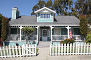 Picket Fences Photos - Quaint House Architecture - Benicia California - 5D18817 by Wingsdomain Art and Photography