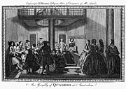 Quaker Meeting Posters - QUAKER MEETING, c1790 Poster by Granger