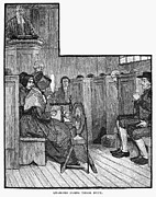 19th Century America Prints - Quaker Meeting Print by Granger