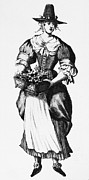 Quaker Framed Prints - QUAKER WOMAN, 17th CENTURY Framed Print by Granger