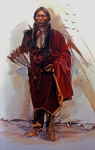 Comanche Framed Prints - Quannah Parker Framed Print by Harvie Brown