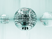 Circuitry Photos - Quantum Computing by Mehau Kulyk