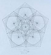 Triangle Drawings - Quantum Star high res. by Jason Padgett