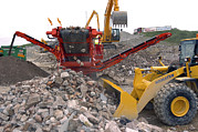 Conveyor Belt Posters - Quarry Clearing Poster by Crown Copyrighthealth & Safety Laboratory