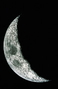Crescent Moon Framed Prints - Quarter Moon Framed Print by Stocktrek Images