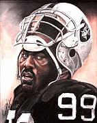Raiders Paintings - Quarterback Killer - Warren Sapp by Kenneth Kelsoe