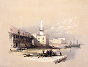 Roberts Drawings - Quay at Suez Febrary 11th 1839 by Munir Alawi
