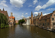 Belgium Photos - Quay of the Rosary in Bruges Belgium by Louise Heusinkveld