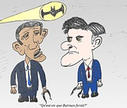 Obama Mixed Media - Que ferait Batman by OptionsClick BlogArt