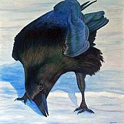 Raven Paintings - Que Pasa by Brian  Commerford