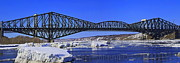 Sunny Prints - Quebec bridge Print by Jordan  Drapeau