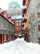 Quebec City Framed Prints - Quebec City Winter Framed Print by Thomas R Fletcher