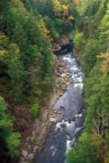 Quechee Prints - Quechee Gorge Early Autumn Print by John Burk