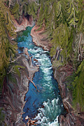 Quechee Prints - Quechee Gorge Print by Kat Hall