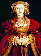 British Portraits Framed Prints - Queen Anne Of Cleves 1515-1557, Fourth Framed Print by Everett