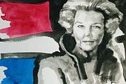 Netherlands Paintings - Queen Bee - Koningin Beatrix by Khairzul MG