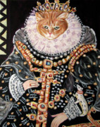 Queen Elizabeth Paintings - Queen ElizaBean by Eel Eye