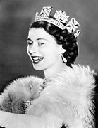Queen Elizabeth Ii Metal Prints - Queen Elizabeth Ii, From A Queen Metal Print by Everett