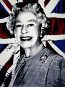 Queen Elizabeth Ii Metal Prints - Queen Elizabeth II Metal Print by Luis Ludzska