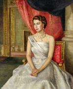 Queen Elizabeth Framed Prints - Queen Elizabeth II  Framed Print by Lydia de Burgh