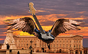 Flying Guitars Digital Art - Queen by Eric Kempson