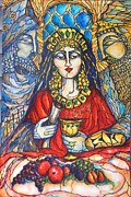 Purim Prints - Queen Esther Print by Rae Chichilnitsky