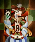Cubist Posters - Queen For A Day Poster by Anthony Falbo