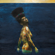 Swim Paintings - Queen by Kurt Riemersma