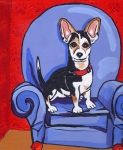 Dog Paw Paintings - Queen Lucy by Laura Brightwood