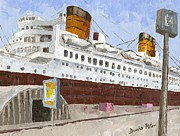 Antiques Paintings - Queen Mary by Dumba Peter