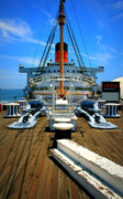 Historic Ship Posters - Queen Mary Poster by Perry Webster
