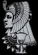 Leaf Glass Art Posters - Queen Nefertiti Poster by Jim Ross