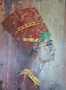 Women Painting Originals - Queen Nefertiti by John Henne