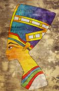 Portraits Mixed Media - Queen of Ancient Egypt by Michal Boubin
