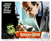 Lobbycard Framed Prints - Queen Of Blood, Lobbycard, Basil Framed Print by Everett