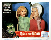 B-movie Art - Queen Of Blood, Lobbycard, Judi by Everett