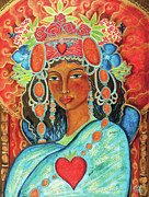 Queen Painting Metal Prints - Queen of Her Own Heart Metal Print by Shiloh Sophia McCloud