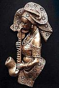 African Reliefs - Queen of Jazz by Chidi Okoye