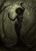 Black Digital Art - Queen of Mud by Caroline Jamhour
