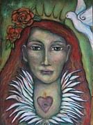 Visionary Art Painting Prints - Queen of My Own Heart Print by Shoshanna Lightsmith