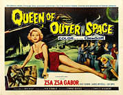 1950s Movies Prints - Queen Of Outer Space, Zsa Zsa Gabor Print by Everett