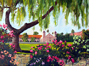 Santa Barbara Paintings - Queen of the Missions by Dorothy Nalls