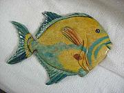 Landscapes Reliefs - Queen Triggerfish-SOLD by Lisa Ruggiero