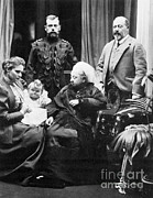 Queen Victoria Metal Prints - Queen Victoria And Tsar Nicholas Ii Metal Print by Photo Researchers