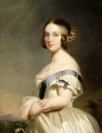 Rose Portrait Framed Prints - Queen Victoria Framed Print by Franz Xavier Winterhalter