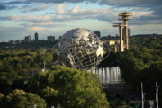 Vintage Map Photos - Queens New York City - Unisphere by Frank Romeo